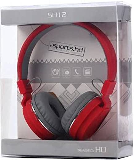 Hoatzin Buy Thunder Beat Sound Headphone with Isolation Bluetooth Headset (Red)