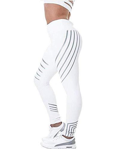 H.ZHOU Athletische Yoga-Hosen mit hoher Taille Fitness Lauftraining Gamaschen Damen Strumpfhosen & Leggings (Color : White - Style 3, Size : M)