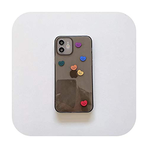 INS - Funda para iPhone 11 12 Pro Max Xs Mini Xr X 7 8plus Soft TPU Back Cover 1-For iPhone Xs MAX