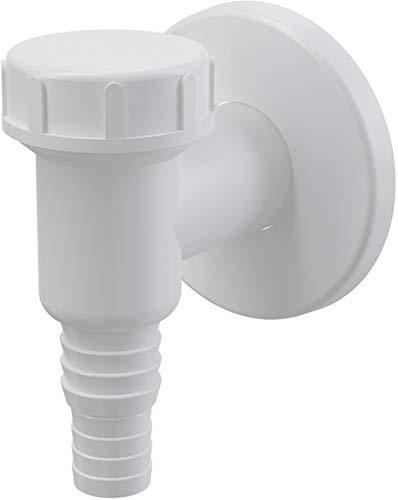 AlcaPlast APS2 Geräte Siphon weiß Abwasseranschluss für Waschmaschine, Spülmaschine, Wärmepumpentrockner