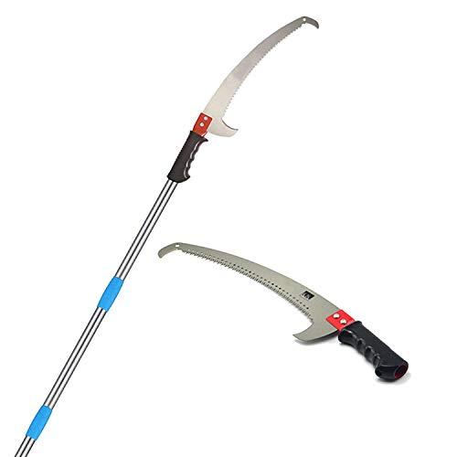 GLORYA Pole Saw - High Reach Pole Pruner with 10ft Lightweight Stainless...