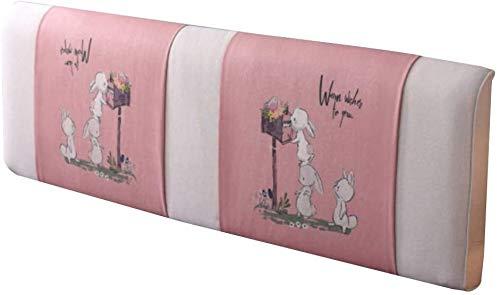 Lanrui Kopfabdeckungen for Queen-Betten Rückenlehne Kopfkissenlesekissen Taille Kissen waschbar Größe: 180x58x10cm (Color : E, Size : 200x58x10cm)