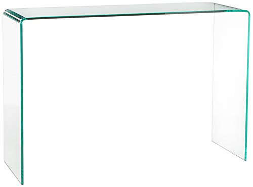 Neos Modern Furniture ST004C-F Modern Contemporary Bent Glass Entryway Console Table, 43