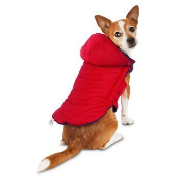 Good2Go Red Quilted Dog Parka,LARGE
