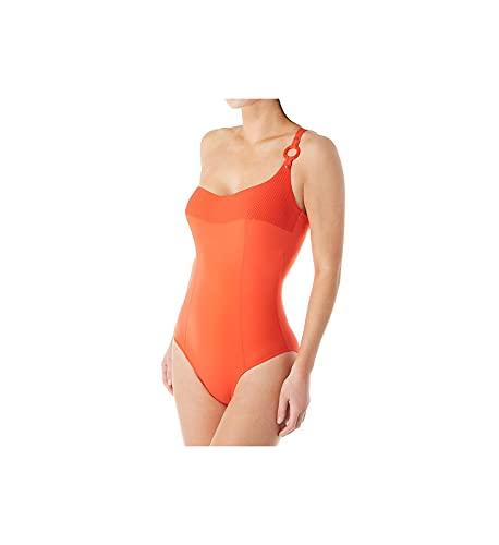 Empreinte Women's Escale One Shoulder One Piece Swimsuit PW-ESC 34C Feu