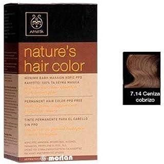 Tinte permanente del cabello 7.14 ASH COPPERY: Amazon.es ...