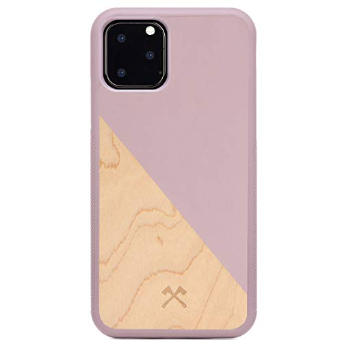 Woodcessories - Hülle kompatibel mit iPhone 11 Pro aus Echtholz - EcoSplit Case 2.0 (Kirsche/Rose)