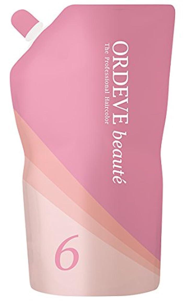 適性抱擁ピッチャーORDEVE beaute(オルディーブ ボーテ) ヘアカラー 第2剤 OX(オキシダン) 6% 1000ml
