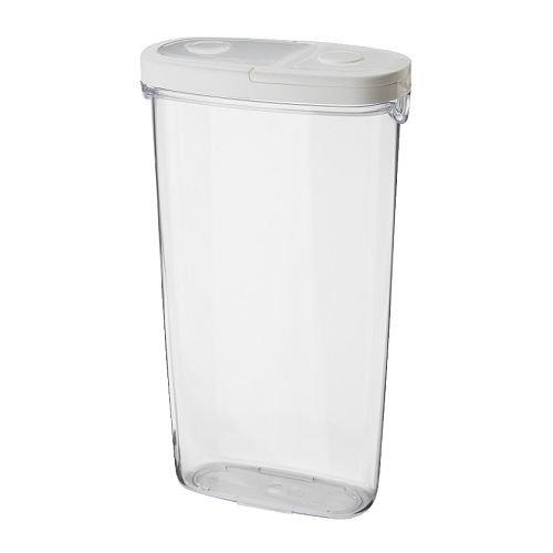 IKEA IKEA 365+–Topf mit Deckel, transparent, weiß, 2,3l