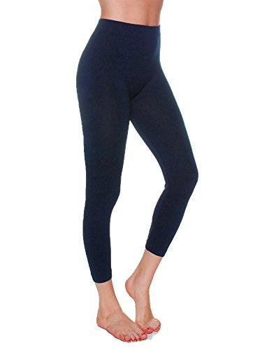 Emmalise Women's Capri Seamless Legging, Black, One Size