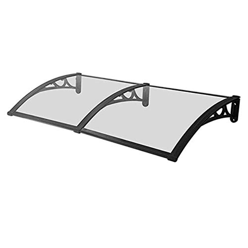 Window Awning Modern Polycarbonate Cover Door Canopy Awning Shelter, Window Rain Shelter Cover Aluminum Alloy Bracket Polycarbonate 3 Colors and 9 Sizes for Front Door Porch
