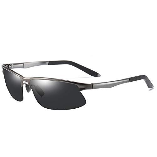 Burenqi Gafas de Sol fotocromáticas para Hombres Gafas de Sol polarizadas Camaleón Seguridad para el Conductor Gafas de visión Nocturna Gafas,Gun and Black