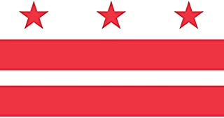 Artisan Owl Washington DC District of Columbia Flag Magnet for Auto Car Bumper - 4x6 All Weather Magnet White MG034
