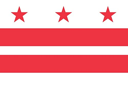 Artisan Owl Washington DC District of Columbia Flag Magnet for Auto Car Bumper - 4x6 All Weather Magnet (1 Magnet)