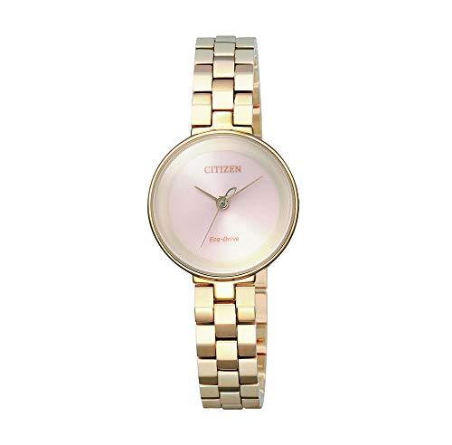 Citizen Damen Analog Quarz Uhr mit Edelstahl beschichtet Armband EW5503-59W
