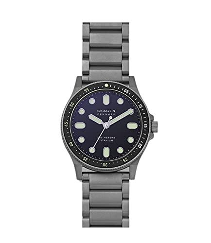 Skagen - Reloj de Titanio Gris Fisk ThreeHand para Hombre, SKW6671