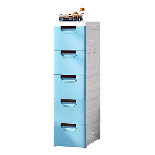 3/4/5-Shelf Shelving Unit, blauw plastic frame voor keuken/badkamer kast Organizer Landing Rack