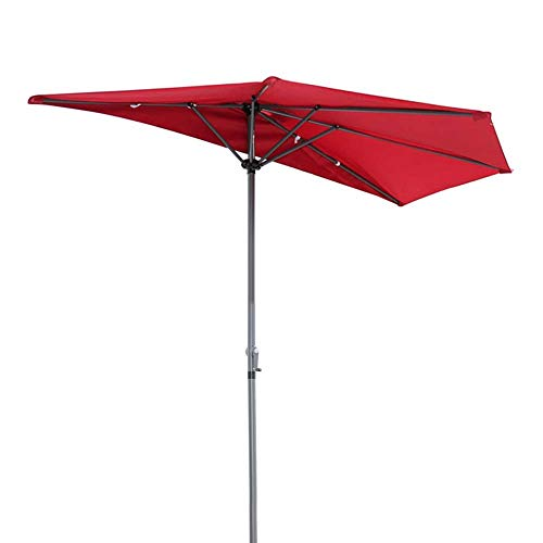 DFBGL Paraguas de Medio Patio al Aire Libre de 8.8 pies/Altura Ajustable de pie con compensación de jardín (Multicolor Opcional)