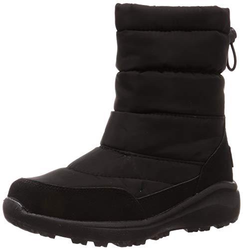 [オリエンタルトラフィック] 防寒 撥水 暖かい 軽い スノーブーツ 防水 雪 雨 レイン レディース ボア 軽量 ブーツ 大きいサイズ 小さいサイズ 8462/9462 BLACK(19AW) 26.0~26.5 cm E