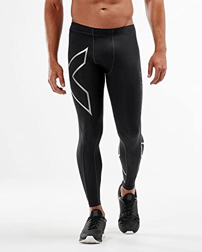 2XU Men's Core Compression Tights, Black/Silver, Large