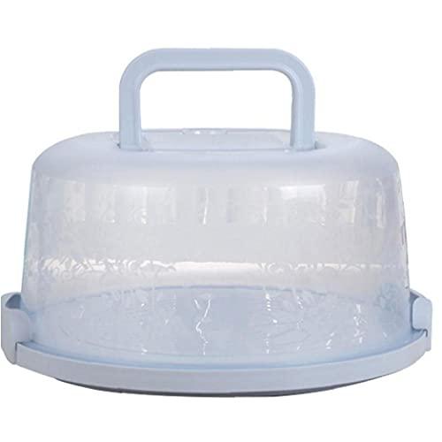 Liadance Carrier Torta Grande con Cierre De Plástico Torta Contenedor De Almacenamiento Torta Dome con Tapa Mantener Pasteles Frescos Azul Claro