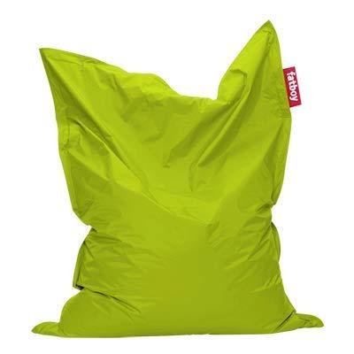 Fatboy® Original Sitzsack Lime Green | Klassische Indoor Beanbag, Sitzkissen in Grün | 180 x 140 cm