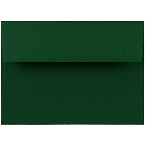 JAM PAPER A7 Premium Invitation Envelopes - 5 1/4 x 7 1/4 - Dark Green - 50/Pack
