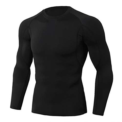 ZGRNPA Herren Langarm Fitness Shirt schnelltrocknend Atmungsaktiv Sportshirt...