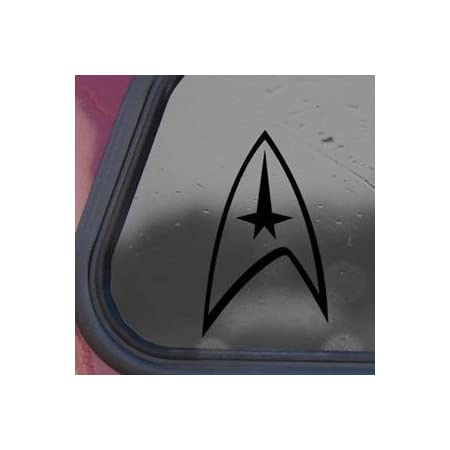 Star Trek Schwarz Aufkleber 10x8cm Laptop Wand Notebook Auto Gestanzt Schwarz Aufkleber Aufkleber Auto