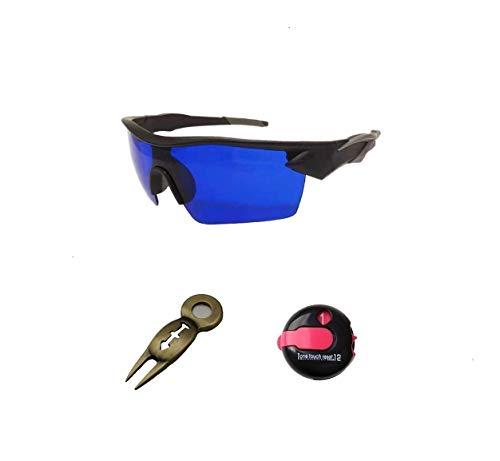 POSMA SGG070I - Occhiali da golf con contatore di punteggi 3 in 1