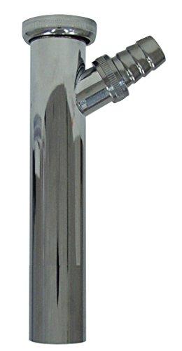 sanicomfort 1933175 Siphon-Tauchrohr mit Ablaufanschluss Metall verchromt
