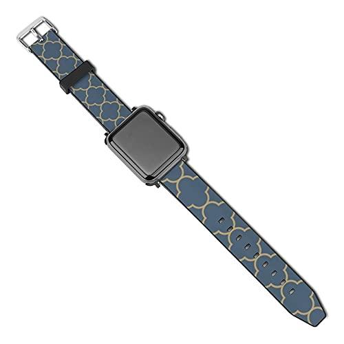 La última correa de reloj compatible con Apple Watch Band 38 mm 40 mm Correa de repuesto para iWatch Series 5/4/3/2/1, patrón marroquí estilo vintage