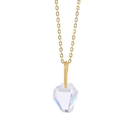 S925 Sterling Silber Zirkon Kristall Tasche Anhänger Halskette Zubehör transparent transparentes Design Vorhängeschloss Schmuck