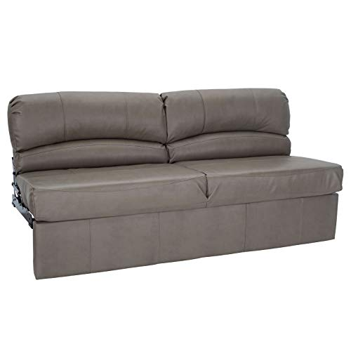 RecPro Charles RV Jackknife Sofa | Love Seat | Sleeper Sofa | Length Options 62', 68', 72' (72 Inch, Putty)