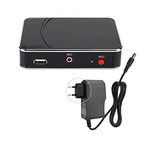 Tarjeta de Captura de Audio HDMI, Adaptador de Caja de Captura de Grabación de Video de Alta Definición 1080P(Enchufe de la UE)