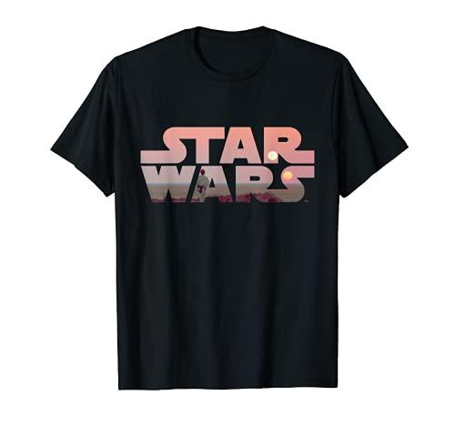 Star Wars Logo Luke Skywalker Tatooine T-Shirt