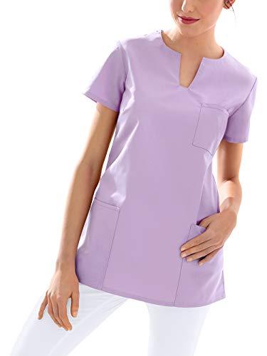 CLINIC DRESS Schlupfkasack Kasack Damen für Krankenpflege und Altenpflege 95 Grad Wäsche Flieder L