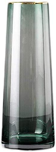 TINGFENG Jarrón de cristal transparente para decoración del hogar, color azul, verde,...