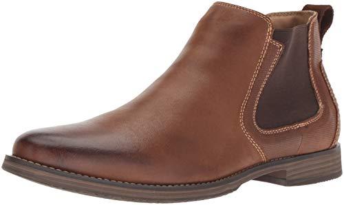 Steve Madden Men's Parris Chelsea Boot, Dark tan, 12 M US