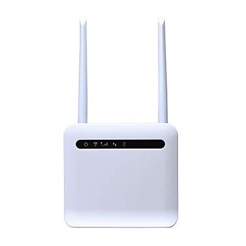 Senmubery Entsperrte 300 MbitS WLAN Router 3G 4G LTE Mobilrouter mit WANLAN USB 20 Anschluss SIM Karten Steckplatz WLAN Router EU Stecker