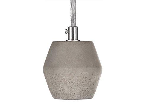 Lampada a Sospensione Smartwares IDE-60012, Calcestruzzo, Esagonale, Ø 7,8 cm - Max. 152 cm, tessuto;concrete, grigio