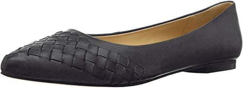 Trotters Estee Woven Black Woven Leather 6 WW (EE)