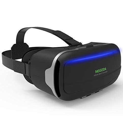【スマホ用 進化型VRゴーグル】VRヘッドセット 120°視野角 4.7~6.53インチスマホ対応 近視適用 非球面光学レンズ搭載 ピント調節可 VRヘッドマウントディスプレイ 3Dゲーム 映画 動画 1080PHD高画質 瞳孔/焦点調節 放熱性よい 着け心地よい 日本語説明書付 外出自粛 父の日プレゼント