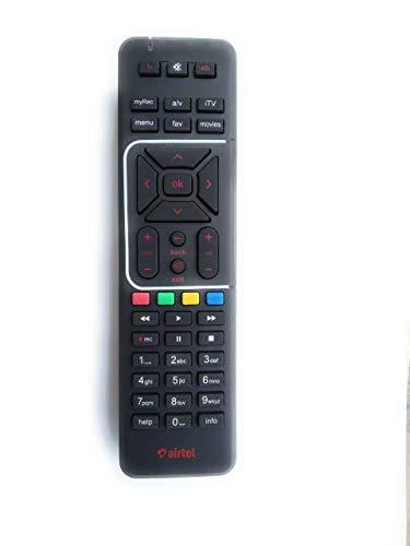 Airtel Universal Digital Tv DTH 100% Original HD Recording Remote Controller(Black)