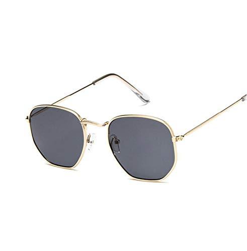 YUFUD Gafa de sol Gafas de sol Mujer Diseñador Espejo Retro Gafas de sol para mujer Gafas de sol vintage Mujer B