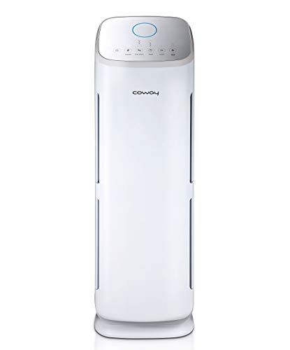 Coway AP-1216L Tower Mighty Air Purifier with True Hepa & Smart Mode(Up to 330 Sq.Ft.), (Renewed)
