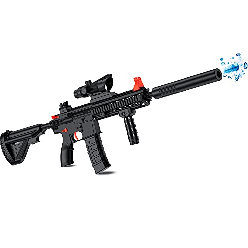 Chermory M416 Electric Water Ball Beads Gun Toys Blaster, Electric Gel Gun Bullets Blaster for Fun Outdoor Activities-Fighting Shooting Team Game for Adults, Boys and Girls Ages 12+…