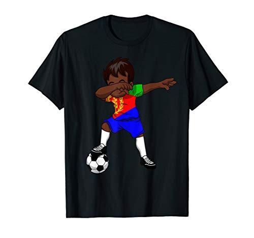 Sanftes Fußball T Shirt Jungen Eritrea eritreischer Asmara Geschenk