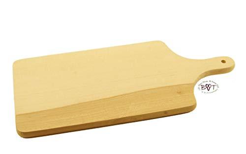 Schneidebrett, Picknick Holzbrett, Steakteller und Schinkenbretter rustikal, Buffetplatten aus Holz, Buffet Platte,Natur, mit abgerundeten Kanten, Maße viereckig ca. 42 cm x 20 cm als Servierbrett,