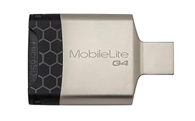 Kingston Technology FCR-MLG4 Mobile Lite G4 USB 3.0 Multi Card Reader, Black/Grey